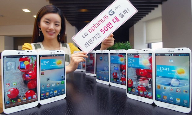 LG celebrates 500k Optimus G Pro sales in its home country