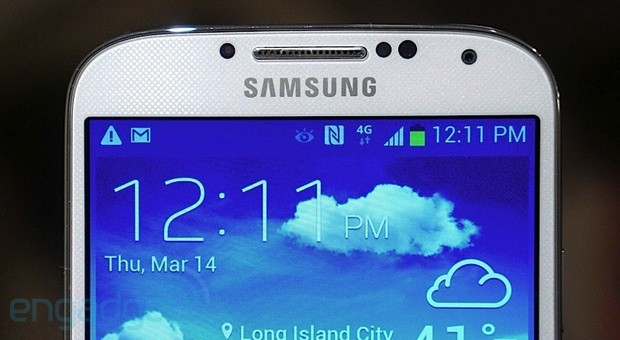 Samsung Galaxy S 4 with Smart Stay active