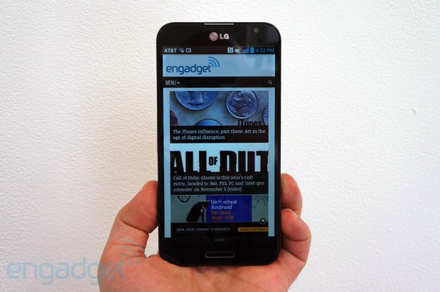 LG Optimus G Pro for AT&T handson video