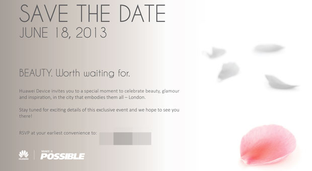 Huawei hosting Beauty event on June 18th, well be there live