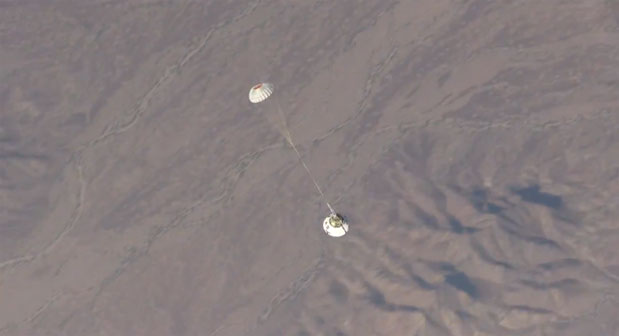 NASA's Orion spacecraft takes another parachute test, intentionally fails video