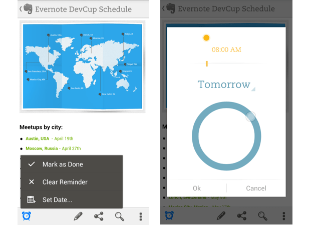 Evernote updates Android app with Reminders feature