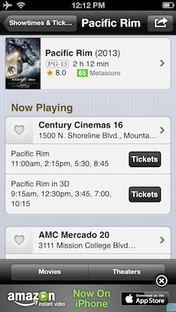 IMDb updates Android and iOS apps, lets US users buy movie tickets directly