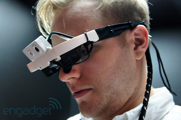 Japanese carrier DoCoMo demos 'Intelligent glass' wearable at CEATEC 2013 handson