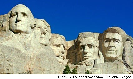 Artist's conception, Ronald Reagan on Mt. Rushmore - Fred J. Eckert, Eckert/Ambassador Images