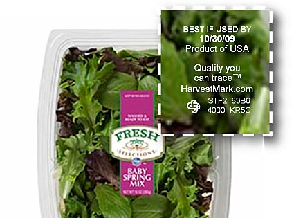 traceable salad greens at kroger