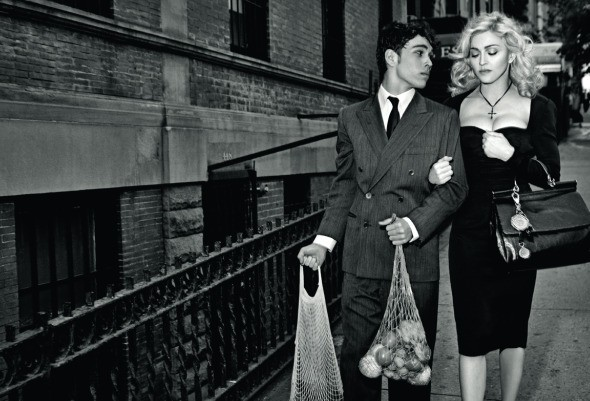 Madonna Dolce & Gabbana Fall 2010 ads luxe Italian housewife groceries son