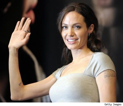 The Mecurial palm of Angelina Jolie