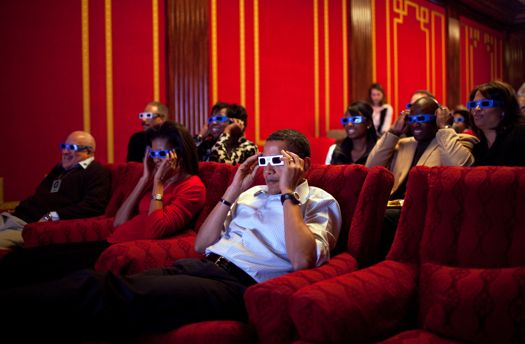 3-D glasses are covered with germs.