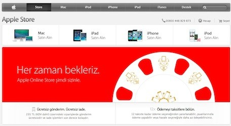 Apple debuts online store in Turkey
