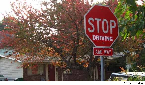 Hacked Altered Stop Signs Driving