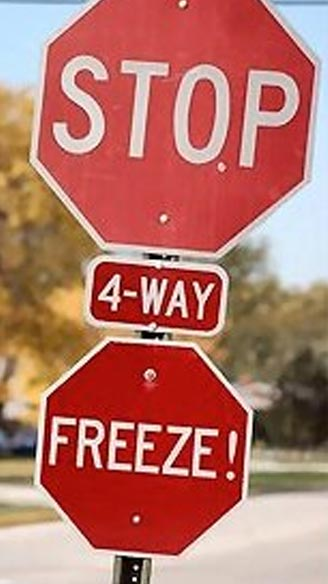 Hacked Altered Stop Signs Freeze
