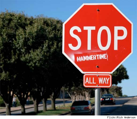 Hacked Altered Stop Signs Start Hammertime
