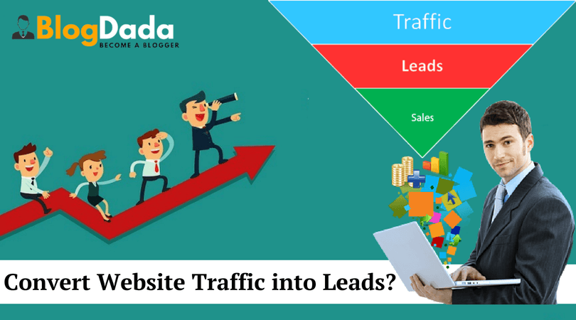 convert website traffic into leads