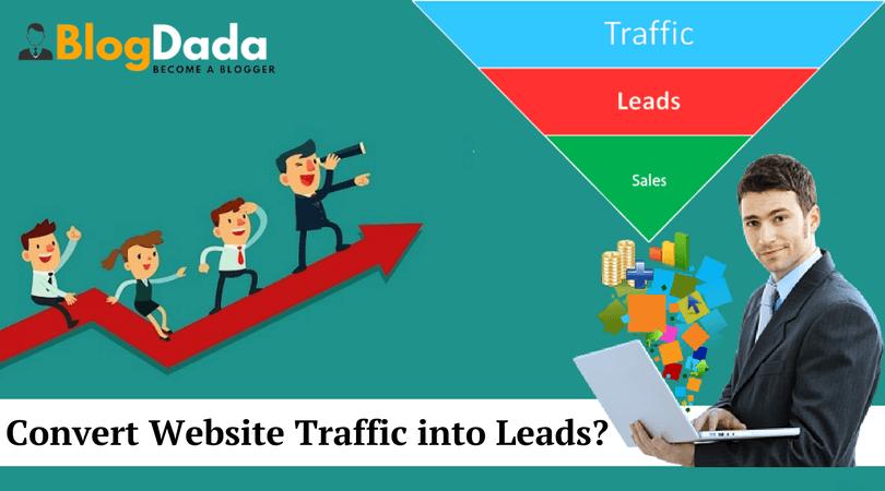 convert website traffic into leads