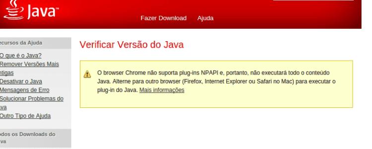 Chrome não executa Java