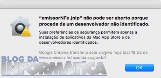 Emissor NFe não pode ser aberto