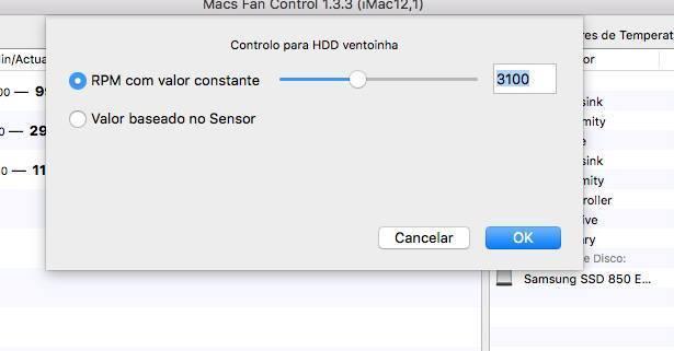 Ajustando a velocidade do cooler do iMac