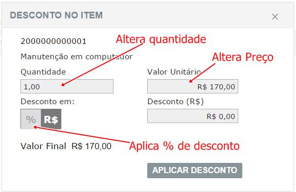 Marketup - Altera preço ou quantidade