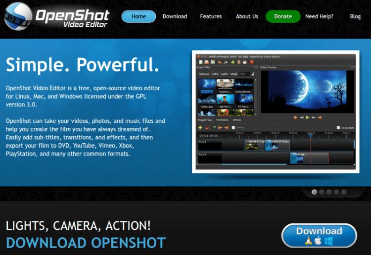 Openshot - Editor de imagens grátis para Mac, Windows e Linux