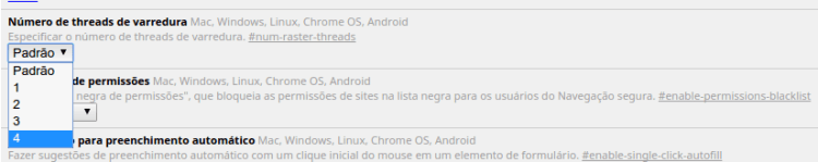Chrome Flags - Threads