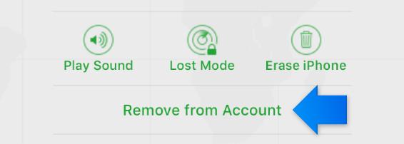 Remover dispositivo da conta