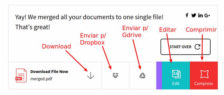 SmallPdf - Fazer Download ou reduzir