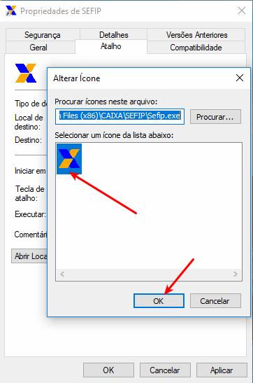 Alterar ícone da SEFIP