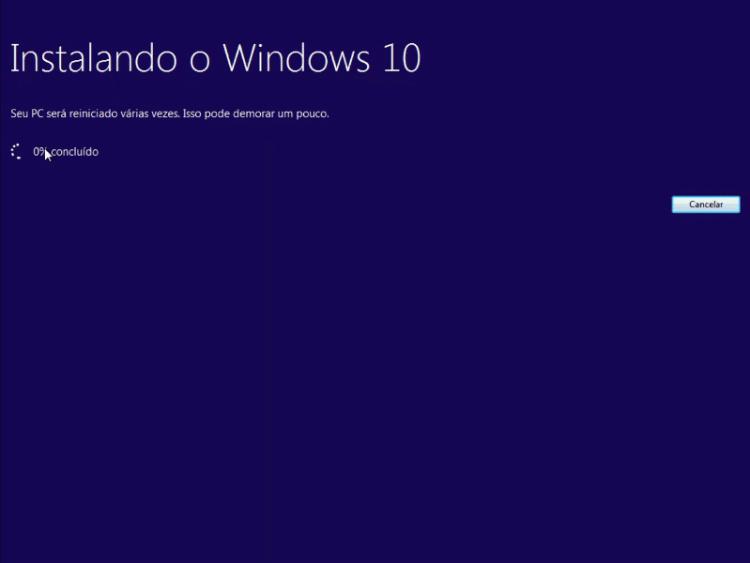 Instalando o Windows 10