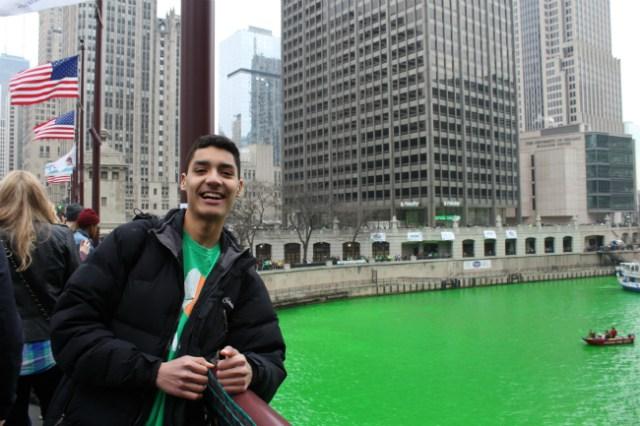 Lucas na cidade de Chicago   Foto: Lucas Martins