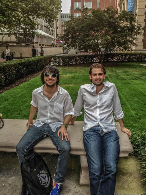 Fernando com colega em Columbia | Foto: Fernando Fisbein