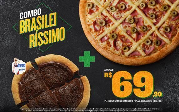 Pizza Hut lança combo bem Brasileiro