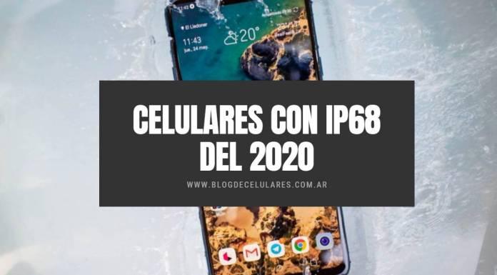 Celulares Con ip68 del 2020