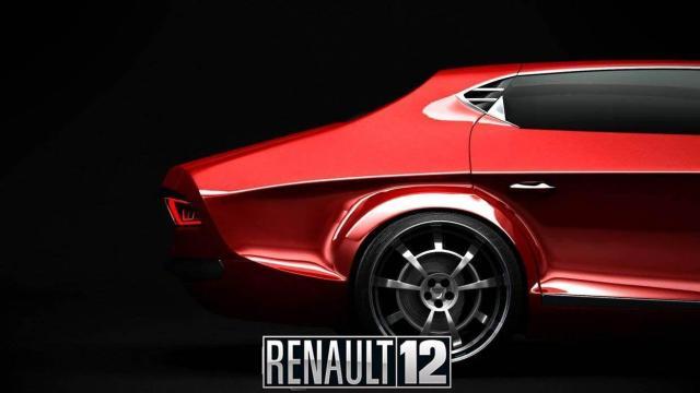 Renault 12 prototipo rojo vista lateral derecha
