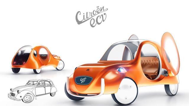 Nuevo Citroen 3CV del Futuro