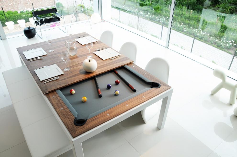 Mesa de comedor que se convierte en mesa de billar - Consolas que se convierten en mesas de comedor ...