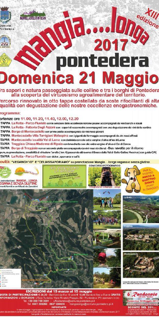 Mangia....longa 2017 Pontedera 21 maggio il programma completo