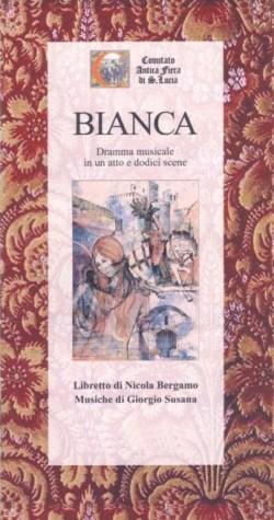 Copertina del libretto del dramma musicale Bianca di Collalto