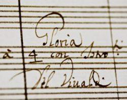 autografo vivaldi gloria