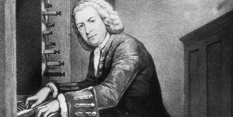 Ritratto di Bach Johann Sebastian all'organo