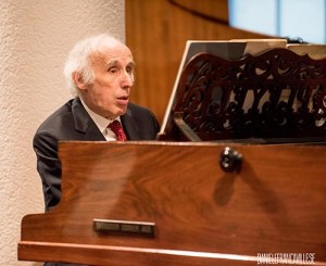 Bruno Canino durante il concerto a ItalienMusiziert