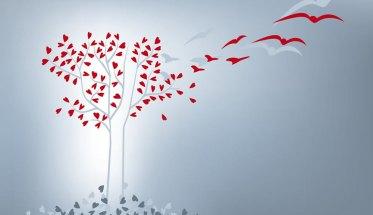 cure palliative: albero con cuori su sfondo azzurro