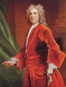 George Frideric Handel vestito rosso ritratto 1711