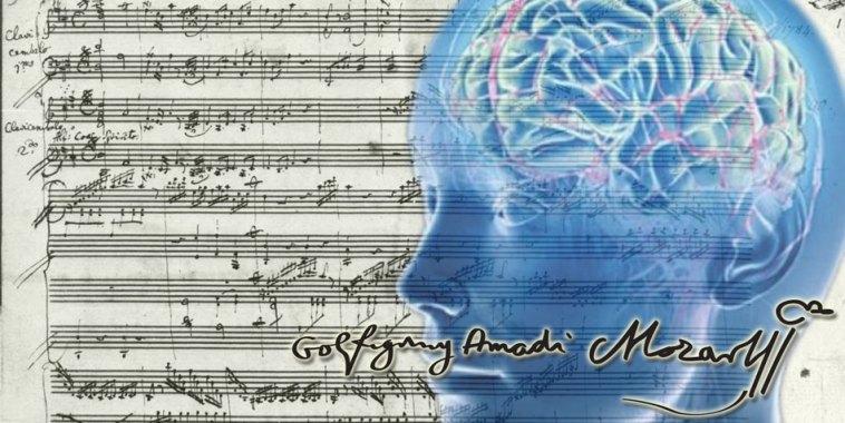 Mozart K 448 spartito cervello umano
