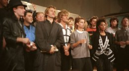 Band Aid 1984 coro Bono, Sting, George Michael, Paul Young