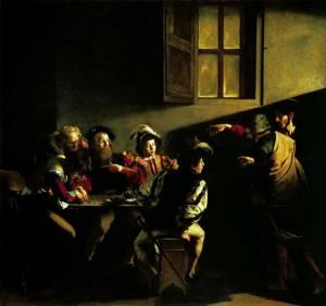 Caravaggio La vocazione di San Matteo quadro