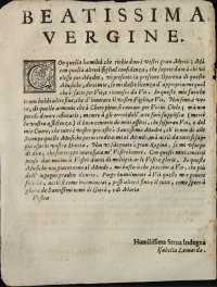 Dedica a Maria di Isabella Leonarda