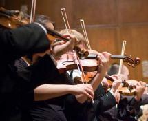 suonare uno strumento in orchestra: violino