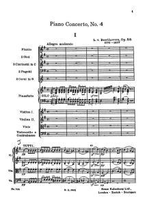 Beethoven piano concerto 4 spartito Primo Movimento