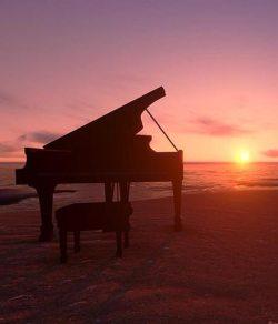 pianoforte in riva al mare